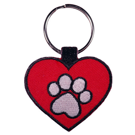 PAW HEART RED